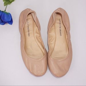 Lucky Brand LK Emmie Leather Ballet Flats, Size 8